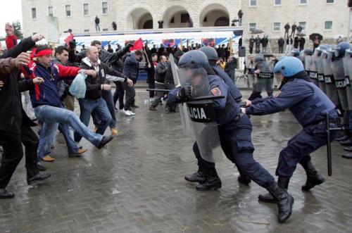 Albania-Riot-Police