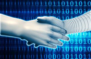 Shutterstock_320570603 - cyber security handshake